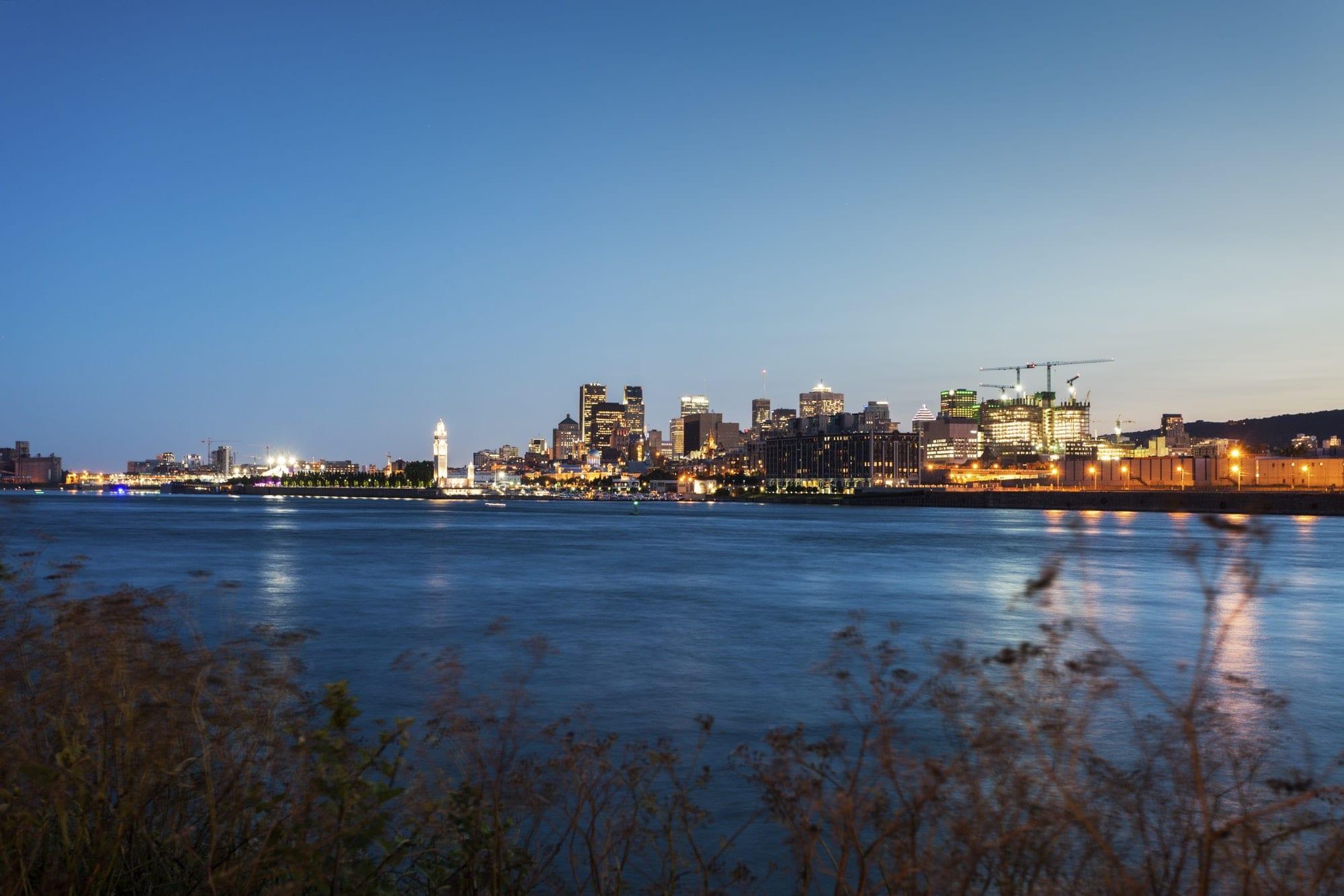 Panorama of Montreal at night